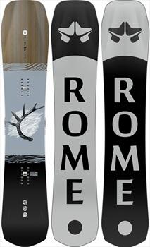 Rome Ravine Hybrid Camber Snowboard, 162cm 2021