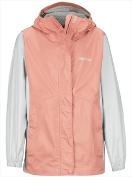 Marmot PreCip Eco Girl's Waterproof Jacket, L Coral Pink/Bright Steel
