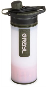 Grayl GeoPress Water Purifier Travel Filter Bottle, 710ml White