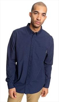DC Adult Unisex Mixinup Button Up Shirt, M Black Iris