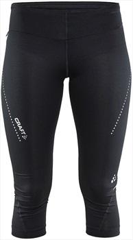 Craft Essential Capri Quick Dry Women's Legging/Tights, S Black