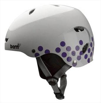 Bern Brighton H2O Ladies Watersports Helmet, M White/Polka Dot
