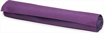 Gaiam No-Slip Yoga/Pilates Mat Towel, Grape/Estate Blue