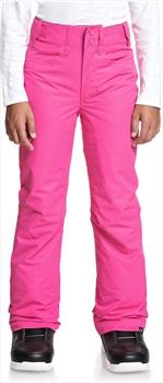 Roxy Backyard Girl's Ski/Snowboard Pants, Ages 8-10 Beetroot Pink