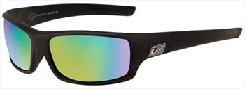 Dirty Dog Clank Green Fusion Mirror Polarized Sunglasses, Black