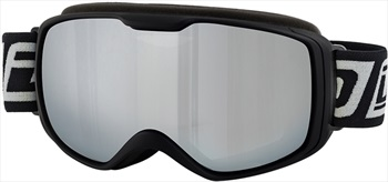 Dirty Dog Atom Silver Mirror Ski/Snowboard Goggles, M Matte Black