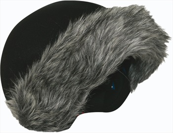 Coolcasc Exclusive Ski/Snowboard Helmet Cover, One Size, Grey Fur