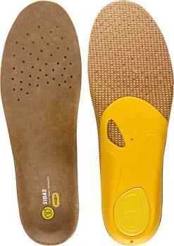 Sidas 3Feet Outdoor High Hiking/Walking Insoles, XS Brown/Yellow
