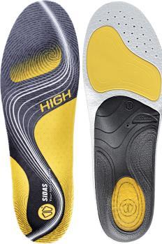 Sidas 3Feet Activ' High Running Insoles, XL Yellow