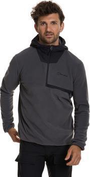Berghaus Aslam Hooded Half-Zip Fleece, M Grey Pinstripe/Jet Black