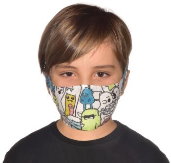 Buff Filter Kid's Protective Reusable Face Mask One Size Boo Multi