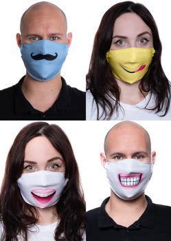 Amigo Masks Reusable 4-pack Protective Washable Face Mask, Multi