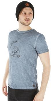 Red Chili Adult Unisex Erbse Climbing Short Sleeve T-Shirt, M Shark Blue