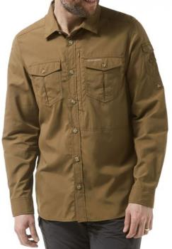 Craghoppers NosiLife Adventure Long Sleeve Shirt : S, Kangaroo