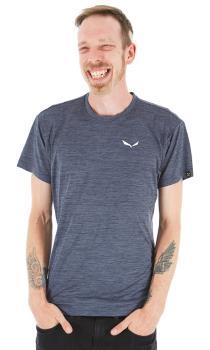 Salewa Adult Unisex Puez Melange Dry Rock Climbing T-Shirt, M Premium Navy
