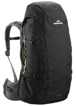 Kathmandu Overland Pack Travel Bag Backpack, 55L Black