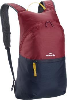 Kathmandu Pocket Pack V4 Packable Daypack Backpack 15L Navy/Burgundy
