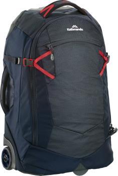 Kathmandu Hybrid Trolley V2 Wheeled Bag/Suitcase, 32L Midnight Navy