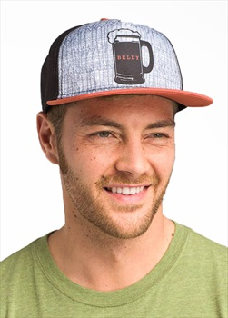 Prana Journeyman Trucker Baseball Cap, OS Dry Chilli Beer