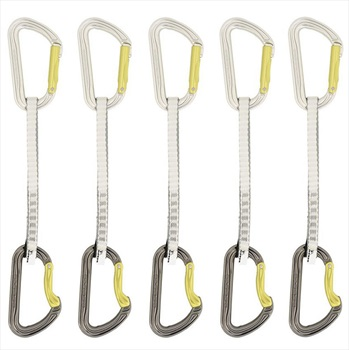 DMM Shadow Set Dynatec Rock Climbing Quickdraws, 5 Pack - 18cm
