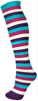 Manbi Pattern Ski/Snowboard Tube Socks, UK 4-11, Mid Stripes Fig