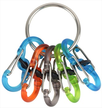 Nite Ize KeyRing Locker S-Biner Carabiner Multi Key Holder, Multi