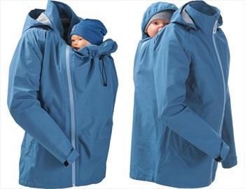 Mamalila Baby Wearing Maternity Rain Jacket/Coat, UK 12 Vintage Blue