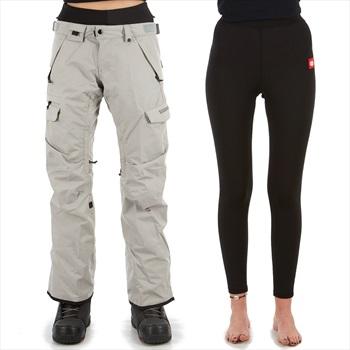 686 Smarty Cargo 3-In-1 Women's Ski/Snowboard Pants, S Lt Grey