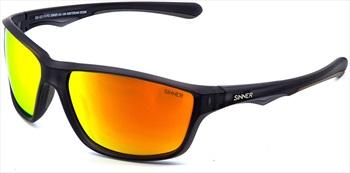 Sinner Eyak Sintec Sports Smoke Flame Wrap Around Sunglasses Cry Black