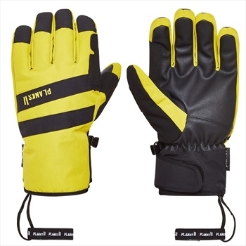 Planks Peacemaker Insulated Ski/Snowboard Gloves, L Mellow Yellow