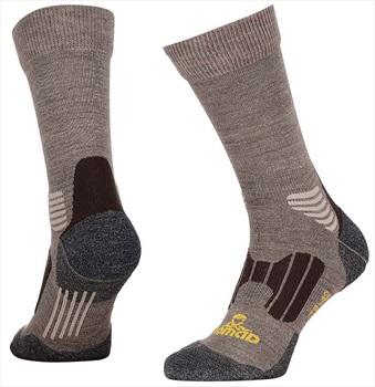 NOMAD® Merino Wool Crew Hiking Socks, UK 2-5 Beige