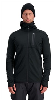 Mons Royale Approach Tech Mid Hoody, Merino Wool Midlayer M Black