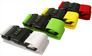 Gone Travelling Combination Luggage/Suitcase Strap, Assorted Colours