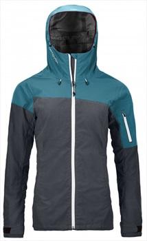 Ortovox Corvara Jacket Waterproof Alpine Shell - S, Black Steel