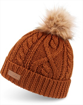 Dakine Adult Unisex Kelsey Cable Knit Pom Style Merino Wool Beanie, One Size Red Earth