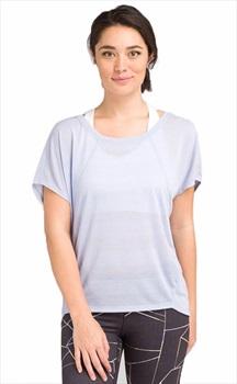 Prana Oriana Top Women's T-Shirt, M Blue Sheen