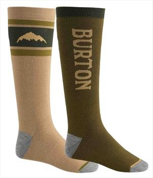 Burton Weekend Midweight 2PK Ski/Snowboard Socks, M Martini Olive