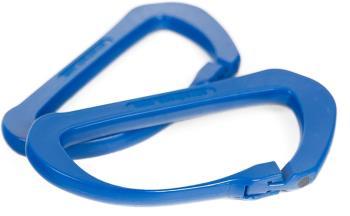 Shred Rack 4-Pack Carbon Carabiner, One Size Blue