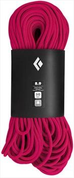 Black Diamond 8.9 Dry Rock Climbing Rope - 70m, Ultra Pink