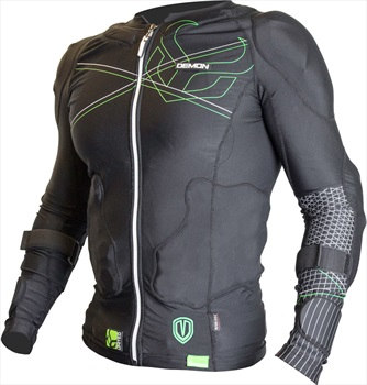 Demon Flex Force Pro Ski/Snowboard Body Armour Top XS Black/Green