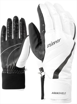 Ziener Kitty AS® Lady Women's Ski/Snowboard Gloves, M White