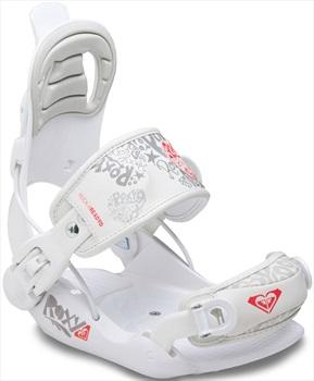 Roxy Rock-it Ready Kids Snowboard Bindings, XS White