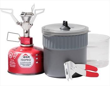 MSR Pocket Rocket 2 Mini Stove Kit Camping Stove & Cookware Set, 0.75L