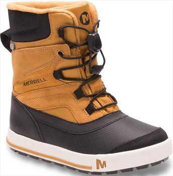 Merrell Snow Bank 2.0 WTPF Kid's Winter Boots, UK 2 Wheat/Black
