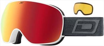 Dirty Dog Mutant 2.0 Red Fusion Ski/Snowboard Goggles, L Matte White