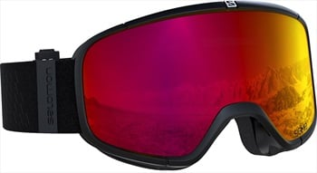Salomon Four Seven Sigma Poppy Red Snowboard/Ski Goggles, M/L Black