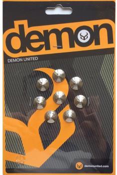 Demon Knob Metal Snowboard Stomp Pad Studs, 1 x 1cm Silver