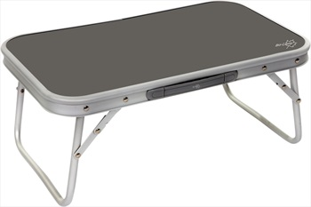 Bo-Camp Folding Table Compact Portable Travel Table, Silver/Grey