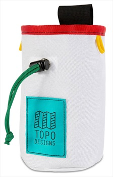 Topo Designs Hipster Rock Climbing Chalk Bag, One Size White/Red
