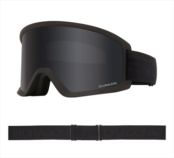 Dragon DX3 OTG LumaLens Dark Smoke Snowboard/Ski Goggles, M Blackout